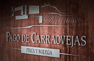 Photo de chais - Domaine de Pago de Carraovejas L'ensemble des installations bâties dépasse les 26 000 m2 avec des places magnifiques à côté du bâtiment, d'où il est possible d'admirer, depuis le sud-ouest, d'incomparables vues sur la vallée et le château de Peñafiel.  PEÑAFIEL -Espagne